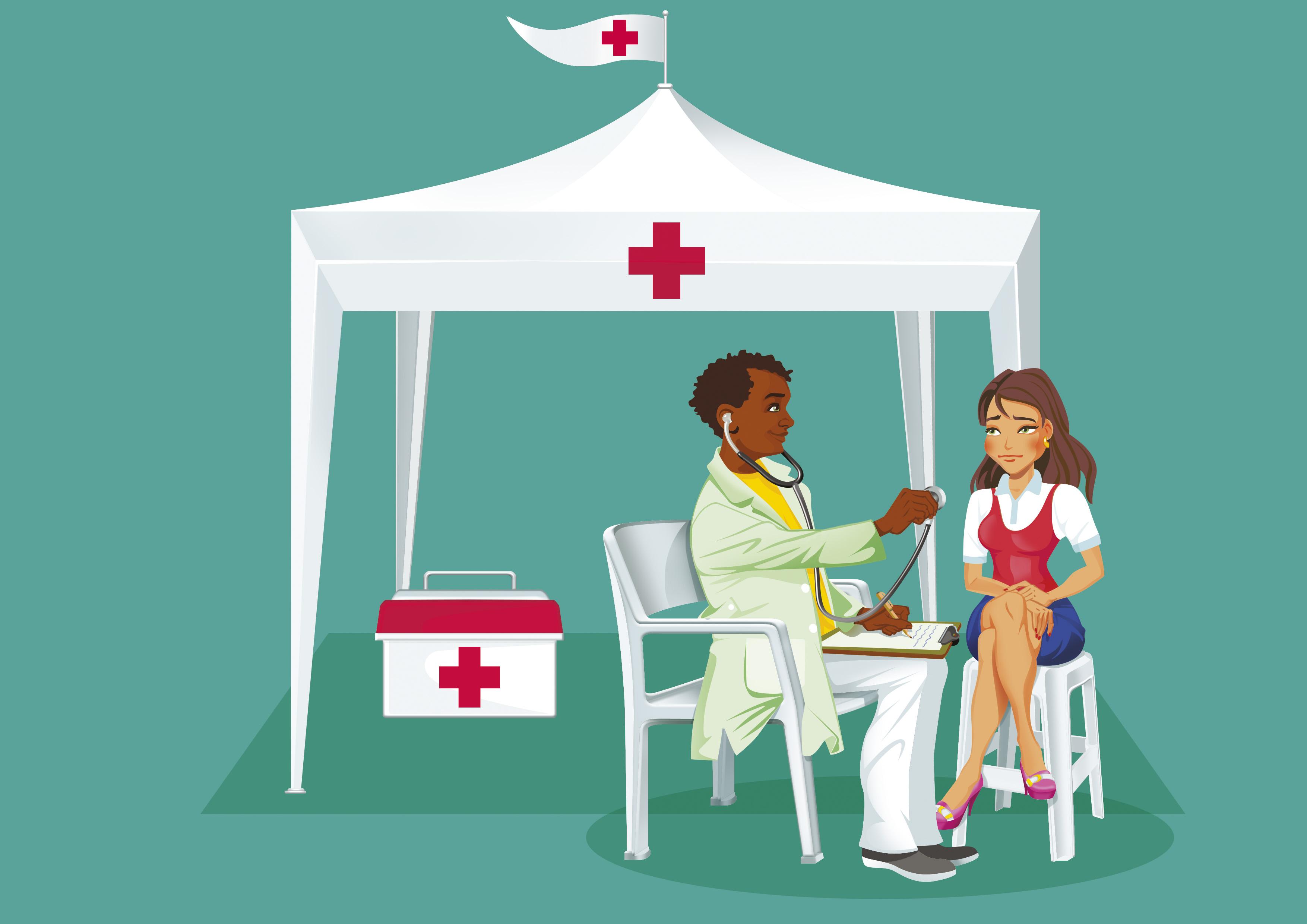 Ilustração Tenda de saúde